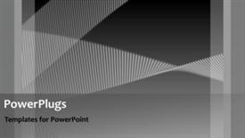 PowerPoint template displaying abstract animated depiction with twisting grey lines in background - widescreen format