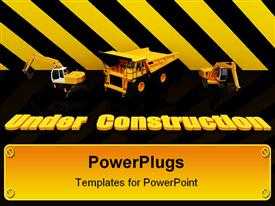 Beautiful Sign Under Construction 006 powerpoint template