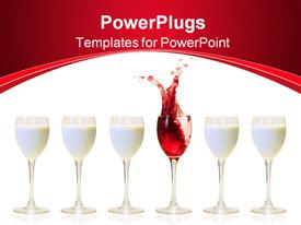 Splash in a glass of red wine powerpoint theme