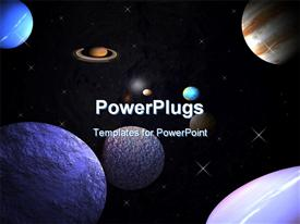 Planets in orbit template for powerpoint