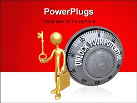 Safe lock dial with the words Unlock Your Potential on it template for powerpoint