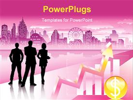 Urban commercial and graph powerpoint design layout