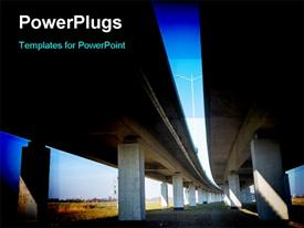 Under the highway, Urban scene template for powerpoint