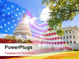 US Capitol and capitol hill powerpoint template