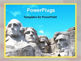 PowerPoint template displaying a historical place with clear sky in the background