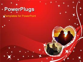Valentine card - stars and hearts powerpoint design layout