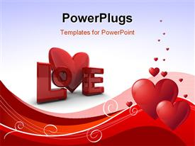 Abstract Valentines Day background with hearts. Place for copy text powerpoint design layout