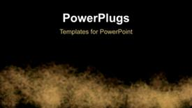 PowerPoint template displaying abstract animated fire burning on dark surface - widescreen format