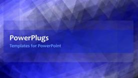 PowerPoint template displaying video with crystal like shapes in motion in blue background
