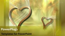 PowerPoint template displaying abstract heart Background