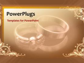PowerPoint template displaying wedding Rings Background