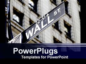 Wall street presentation background