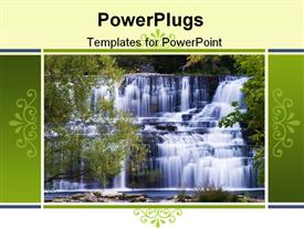 PowerPoint template displaying waterfall in Lockport NY