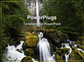 Watson falls on the Umpqua river in Oregon powerpoint template