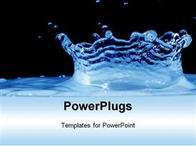 PowerPoint template displaying a view of water with a deep ripple over a black background