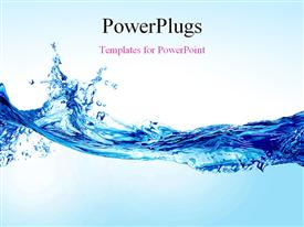 PowerPoint template displaying beautiful splash of water forming shape