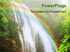 PowerPoint template displaying crimea mountain streams and waterfalls long time exposure