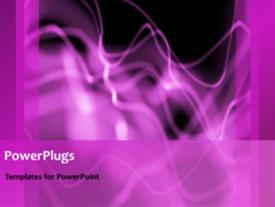 PowerPoint template displaying abstract animation of purple smoke on black background
