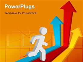 PowerPoint template displaying success business concept in the background.