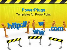 Computer generated image that represents website construction template for powerpoint