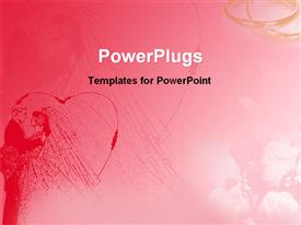 Artistic red background of wedding powerpoint template