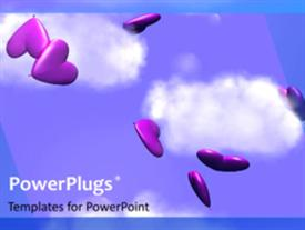 Falling Hearts background powerpoint design layout