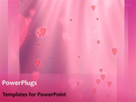 Falling Hearts background powerpoint theme
