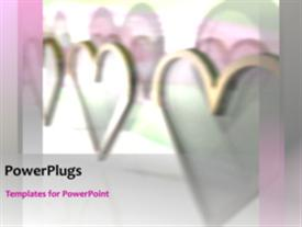 PowerPoint template displaying wedding hearts concept