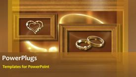 PowerPoint template displaying wedding ring background