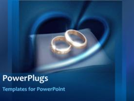 PowerPoint template displaying wedding rings