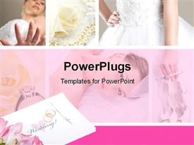 Wedding collage powerpoint template