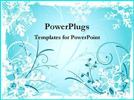 Bright blue winter wonderland template for powerpoint