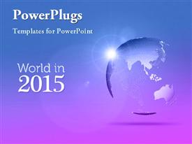 World in the year 2015 template for powerpoint