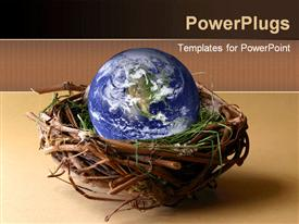 PowerPoint template displaying world's nest