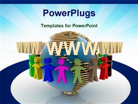PowerPoint template displaying world partnership. 3D depiction