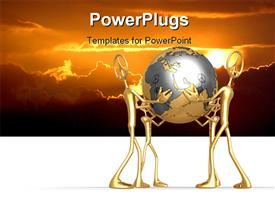 PowerPoint template displaying concept & presentation figure 3D