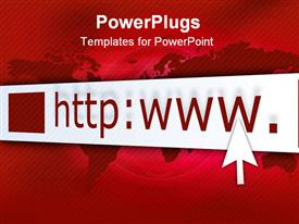 PowerPoint template displaying address bar with cursor on abstract background