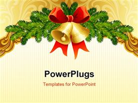 PowerPoint template displaying gold ornate Christmas background