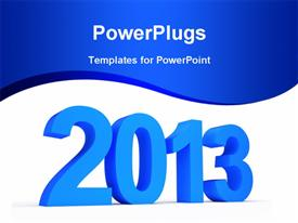 PowerPoint template displaying new year celebrations 2013 bluish background