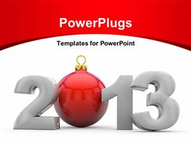 PowerPoint template displaying new year 2013 white background