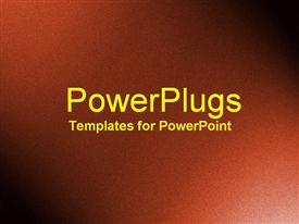 PowerPoint template displaying a simple rough plain chocolate dark brown colored background