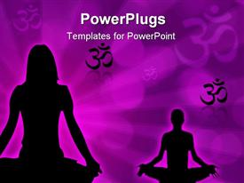 PowerPoint template displaying yoga02_am_26 in the background.