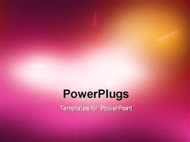 PowerPoint template displaying abstract light background